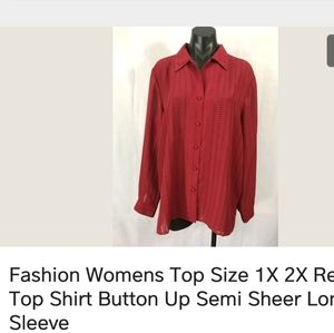 Like new womans shirt red plus 1x